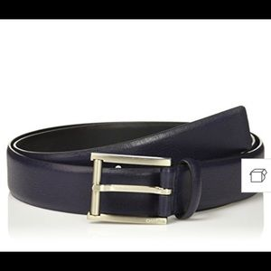 4/$25 Calvin Klein Men's Blue Textured Belt 30 NEW